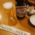 玉家 - 瓶ビールは麒麟