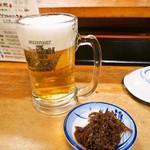 大黒 - 生ビール & 琵琶湖産いさざ甘露煮