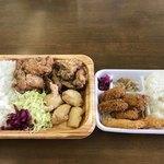 寺田商店 - 料理写真:からあげドカ弁とカキえびフライ弁当