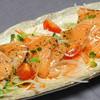 八十八屋 - 料理写真:バジルソースでサーモンのカルパッチョ