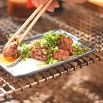 鶏式ジョージ - *鶏レバー …コレは焼いて提供して頂きました。 フワフワのレア加減。