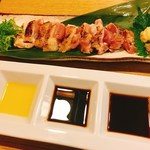 酒・肴 タナゴコロ - 地鶏ももたたき