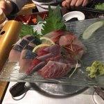78210026 - 本日の鮮魚のお造り三種盛合せ