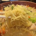 三浦屋 - タンメンの麺アップ