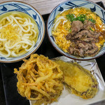 丸亀製麺 - ボクとムスメ2号の遅いお昼ご飯。