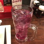 Kobushi - 300円飲み放題の巨峰サワー。