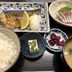 福魚食堂 - 塩さば定食700円