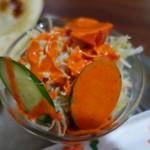 ヒマラヤン食堂 - (2017/11月)シンプルセットのサラダ