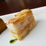 カフェ オリーブ - りんごと長芋の挟み焼き。