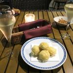 恵比寿 箸庵 - マッシュルームの天ぷら