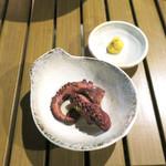 恵比寿 箸庵 - タコのアップ