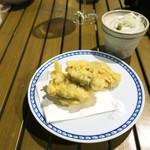 恵比寿 箸庵 - 牡蠣の天ぷら
