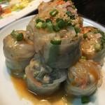 風土木 - 特性生春巻 750円 野菜はシャキッと皮はしっとりソース       はゴマ風味でアジアの香りです。