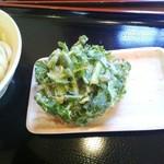 三枝うどん - 菊菜めえ