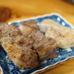 昔のきりたんぽや - 鶏のたたき(1500円)(2017/11)