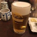 石蔵 - 2017年12月17日  生ビール(キリン一番搾り)580円