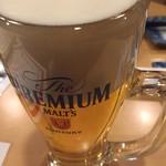 串よし - ビールで乾杯