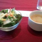 7823735 - ランチのスープとサラダ
