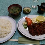 キッチン日の出 - ヒレカツ定食