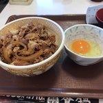 すき家 - 牛丼並と生たまご