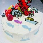 和風ダイニングまんま - 釣り好きさんのケーキ