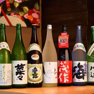 熊本のお酒を中心に、日本酒・焼酎豊富に揃っています
