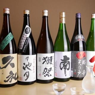 ◇日本酒・ワイン◇鮨に合う酒、幅広く取り揃えております