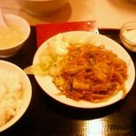 星宿飯店 - 日替定食A生姜焼肉500円