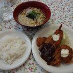 近藤 - 洋食ランチ¥980+そば¥250