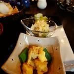 78240320 - 卵の炒めもの、ツナ入サラスパ、白菜浅漬