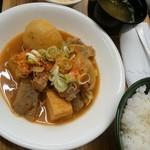 カフェガーデンさら - 軟骨の味噌煮込み定食