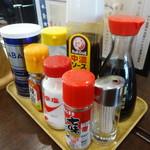 高砂食堂 - 卓上調味料