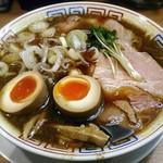 78248455 - 【サバ醤油そば + 味玉】¥500 + ¥100(オープン記念特別価格)