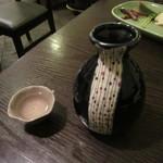 石臼挽き手打ち蕎麦進士 - 燗酒「緑川」