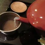 石臼挽き手打ち蕎麦進士 - 蕎麦湯は多少の手は加わっている