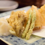 泥味亭 - 穴子と舞茸の天ぷら@1,230円