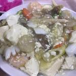 中華大千居 - 海鮮と豆腐煮込み アップ