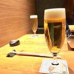 焼肉 うしみつ - 生ビール