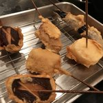 串かつ 太郎 - 椎茸、ナス、山芋、豚などなど