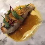78269694 - 魚料理(スズキ、ブイヤベースソース)