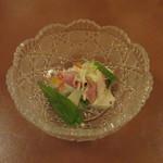 たか美 - 生ハムとピンクグレープフルーツのサラダ