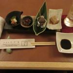 たか美 - うざく、関門蛸、ばい貝、胡桃豆腐