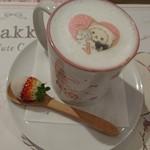 OMOTESANDO BOX CAFE&SPACE - コリラックマキャットのホットラテ~いちご付き~