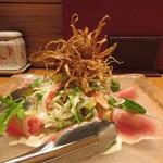 たか美 - フルーツトマトと生ハムサラダ 800円
