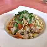 78274980 - 三重産サワラと季節野菜のスパゲッティーニ