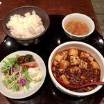 chainadainingukaragura - マーボー定食(副菜付き)