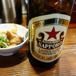らあめん 元 - 瓶ビールで一番好き「赤星」