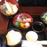 Awajishimatokurae - 刺身天婦羅定食¥1250