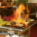 スイート - 料理写真:炎のハンバーグ