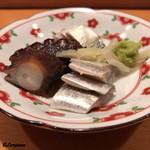 鮨富 - 佐島の蛸の桜煮に熊本の小鰭